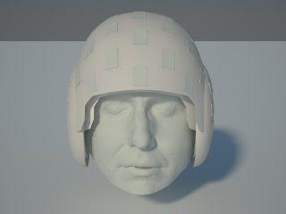 OPM helmet artist rendering